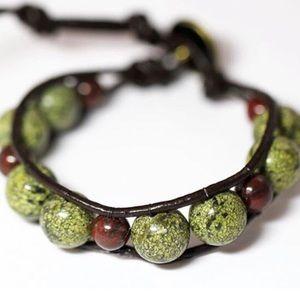 Jewelry - Green Jasper handmade bracelet